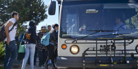City College students board the 15x bus to Isla Vista.