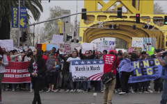 Students march for higher education in Sacramento