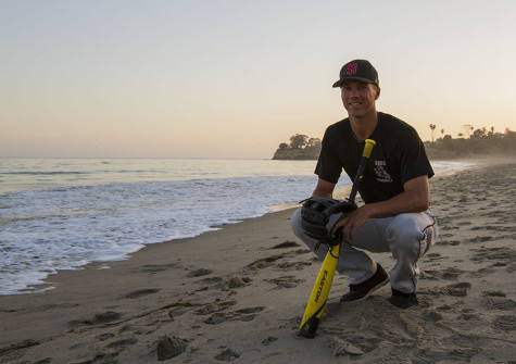 From surf to turf, City College outfielder swings for success