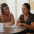 Communications major Nikoletta Kontarinis (left), 23, helps ESL student Balnca Linares with her English homework, Wednesday, Oct. 22, in Santa Barbara. Nikoletta is one of several tutors available for students in the ESL program at City College.