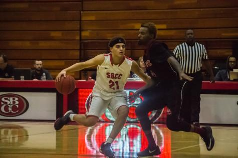 SBCC men's basketball falls to Pierce after poor shooting night