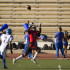 Wide receiver Calvin Crockett (No. 6) catches a 46 yard touchdown pass for the Vaqueros football team Saturday afteroon, Nov. 7, at La Playa Stadium. Santa Monica beat City College, 37-21.