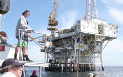 SBCC boat trip gives students chance to explore local oil seeps