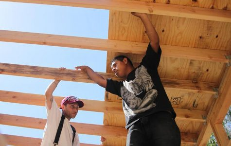 SBCC construction students build framework for tiny house