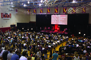 Reality Church holds service at SBCC Sports Pavilion