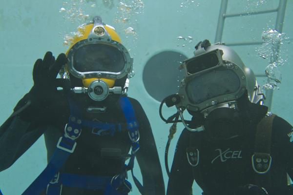 Nicole Hoffman and Sam Hodges graduate from SBCC Marine Diving Technology program