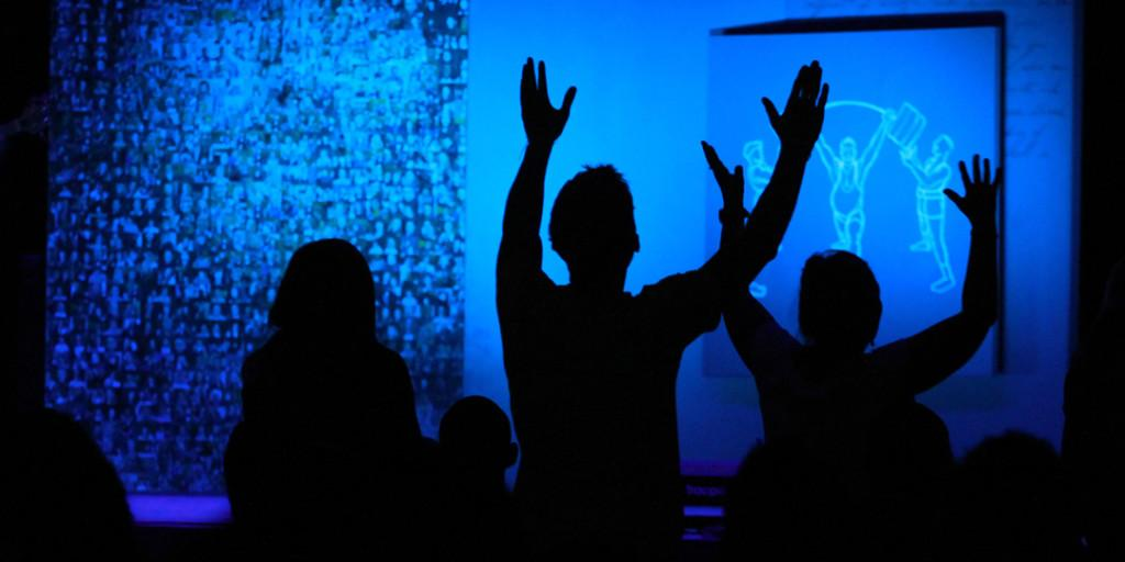 Sports arena turns into Sunday house of prayer