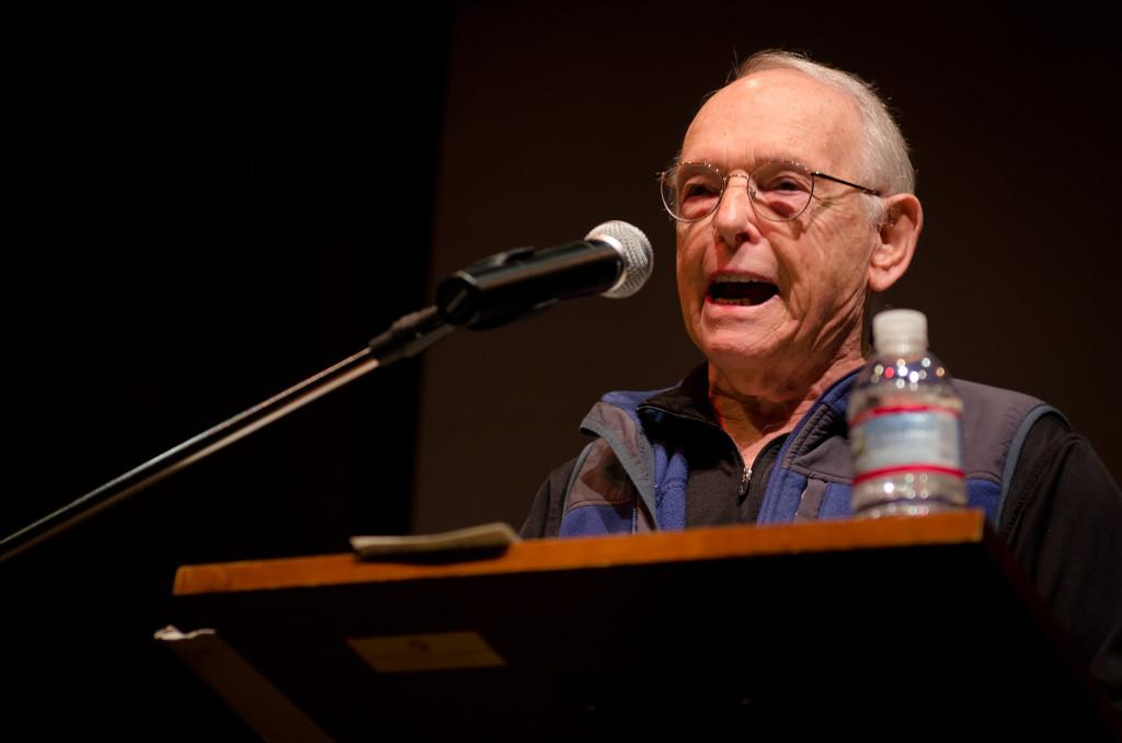 Irving Feldman reads poetry on Friday, Sept. 28  at Fe Bland Forum on West Campus.