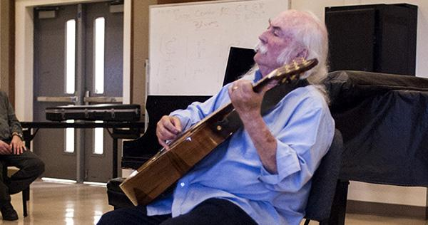 David Crosby speaks to City College songwriting class