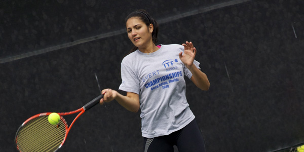 Freshman tennis player wins WSC title with perfect 13-0 season