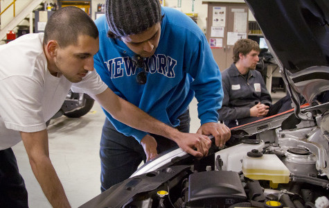 Students learn unique skills in automotive hybrid repair class