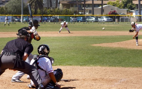 Tyler Gilbert (No. 12) pitches against Ventura College at Pershing Park in Santa Barbara, Calif. April 6, 2013.