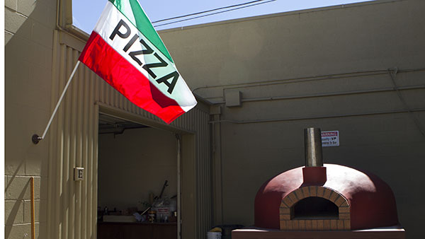 The authentic italian handmade wood fire brick oven made for the culinary dept. of City College by Giuseppe Crisa at his workshop in Goleta, Calif. on Sept. 27, 2013.