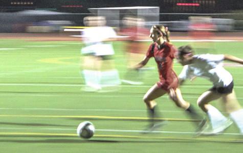 In Santa Barbara, Calif. At Del Playa Stadium, Forward Brandie Harris shows off her unstoppable quickness against Cuesta, ending in another goal.