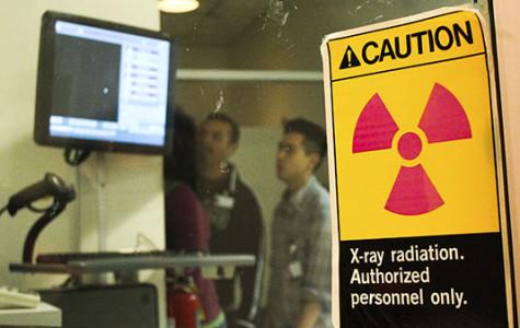 In the Radiology Lab at SBCC Santa Barbara Calif., students look at X-rays behind the scene