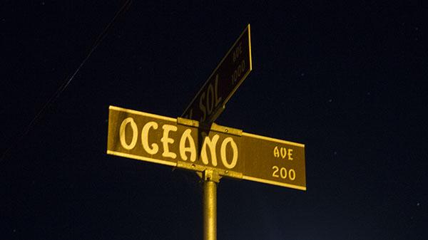 The Oceano and Del Sol Ave street sign in Santa Barbara, Calif. on Sunday, Nov. 10, 2013.