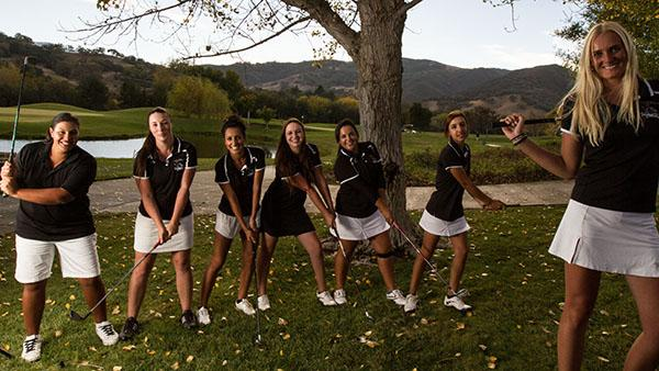 Vaqueros women golf team after winning the Southern California Regional on Nov. 11, 2013 at Alisal River Golf Course in Solvang, Calif.