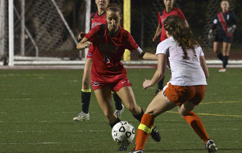 City College forward Brandie Harris (No. 2), battles for the ball against Delanie Gavid (No.11) during the Nov. 7, 2013 game against Ventura College on La Playa Stadium on Nov. 7, 2013 in Santa Barbara, Calif.