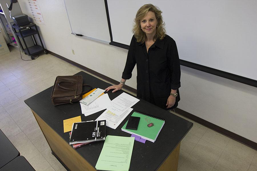 PHOTO ILLUSTRATION: Justice Studies Instructor, Kelly Wellman, prepares for her Intro to the Administration of Justice class on Tuesday, March 18, at City College. Wellman is the newest instructor for the Justice Studies Department.