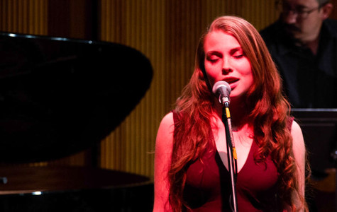 """Anna Kasper performs a smoky rendition of Cole Porter's """"Night and Day"""", Sunday, March 9, 2014, at the Fe Bland Forum, on Santa Barbara City College's west campus. The concert was a compilation of music styles ranging from classical to jazz, preformed by students and faculty alike."""