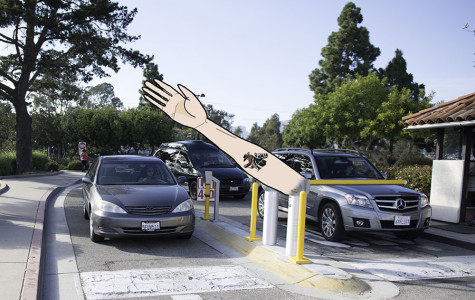New security arms let cars into the parking lot