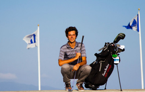 French international student Felix Mory, a freshman at City College, basks in the sun on April 13, in Santa Barbara. Mory has led the Vaqueros golf team who are currently second in the Western State Conference.