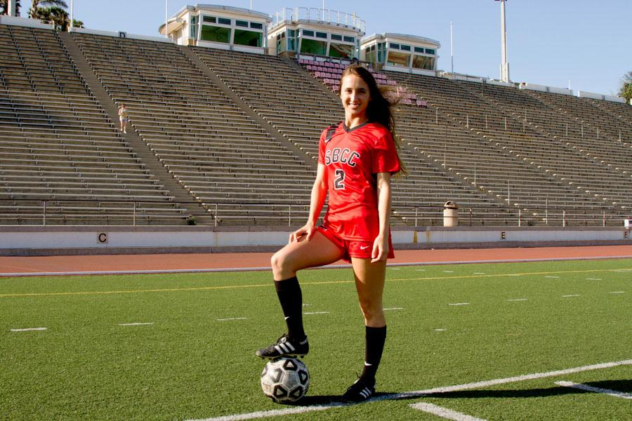 Women's soccer player Brandie Harris has been named 2013-2014 Scholar Athlete of the year at Santa Barbara City College. Her 30 goals this last season broke the school record and she is headed to Cal State San Bernardino in the Fall.