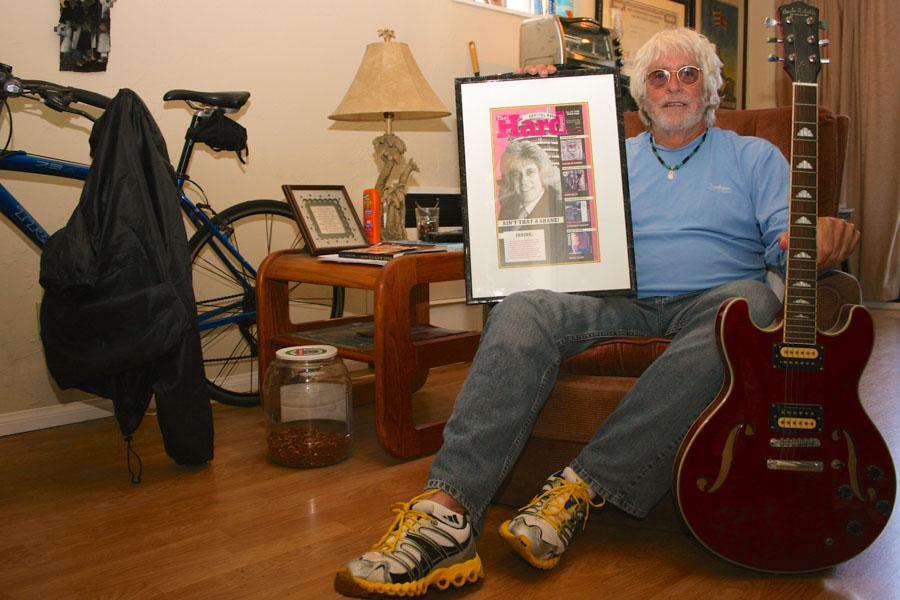 Former vice president of rock promotion at Capitol Records, Jeff Shane, sits in his home in Montecito, Calif., on Monday, April 28. Shane is currently enrolled in the City College Drug and Alcohol Counseling program and plans to use his certificate to help others.