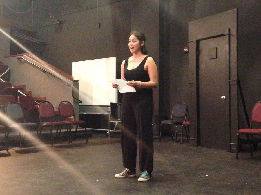 The first person to audition: Laksmini Wiyantini, performing a scene for the school plays auditions on Sept. 9th in the Jurkowitz theatre at Santa Barbara City College, Calif. The play premiers on Nov. 12