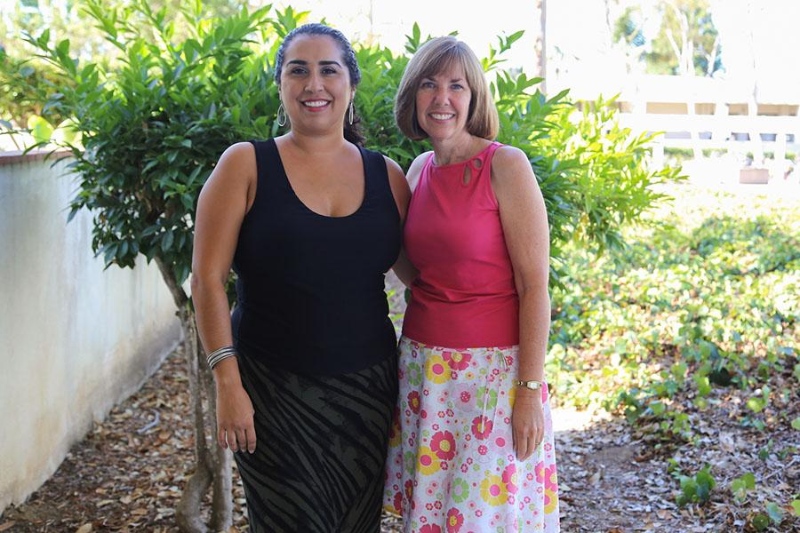 (From left) Lydia Aguirre-Fuentes and Christy Grant, the new Academic Counselors for Santa Barbara City College, Thursday, Sept. 18, on East Campus.