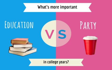 Don't blame us: We're taught early to party first, study later