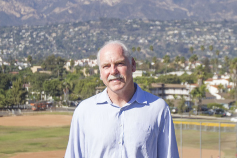 Ethan Stone, age 57, runs for the District 6 Board of Trustees position, Monday, Oct. 6, above Pershing Park at City College in Santa Barbara. Stone believes the Board would greatly benefit from his financial background and experience, including his past service on the Hope School District Board of Trustees from 2001-2005.