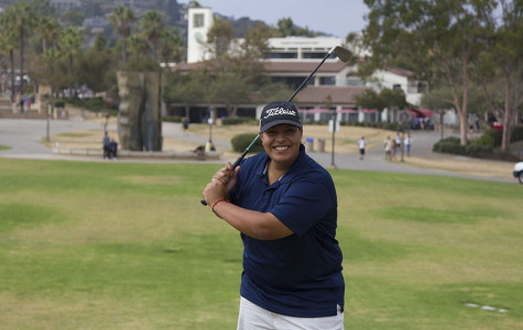 Santa Barbara native Saralisa Ortega, 20, is team captain of the Vaquero women's golf team and is ranked fourth in the Western State Conference, at West Campus, in Santa Barbara, Calif. 'I have grown to have a lot of passion with the game over the years,' said Ortega. 'I love to play golf.'