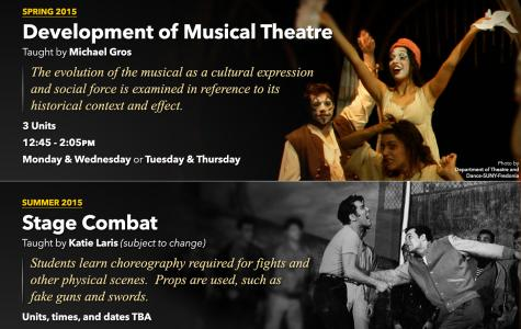 Theatre arts offer classes in stage combat and musicals