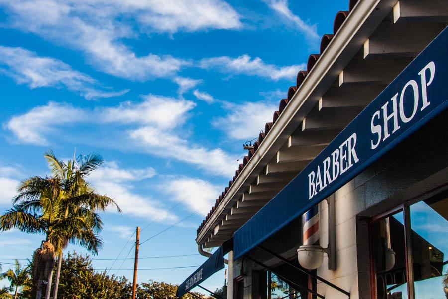 SB Barbers, an up-and-coming barbershop run by Santa Barbara local Josh Luna, is inconspicuously located between an insurance store and an auto shop on lower Chapala Street, Saturday, Nov. 22, in Santa Barbara.