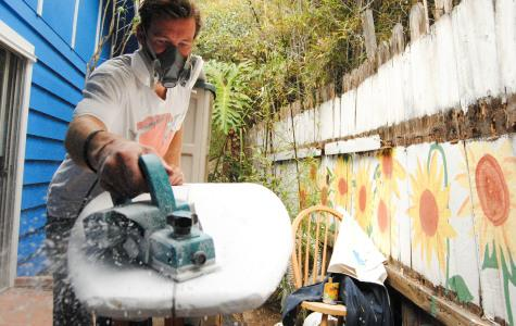 Isla Vista resident turns garage into surfboard shaping bay