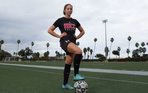 Vaquero Forward Kaitlyn Crooker (No. 8) leads the team in goals with 18 this season, at La Playa Stadium, Thursday, Nov. 20, 2014 in Santa Barbara, Calif.