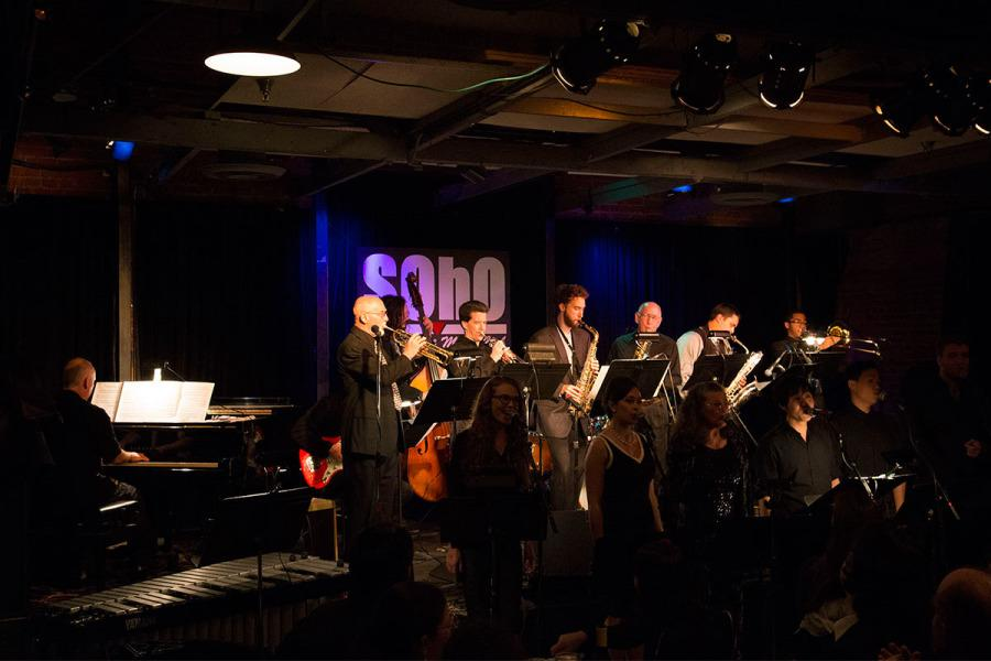 City College jazz band The Eclectic Jass Orchestra performs for the Music Department's 'Jazz Jam at SOhO' Restaurant and Music Club, Tuesday, Dec. 2, 2014 in Santa Barbara, Calif.