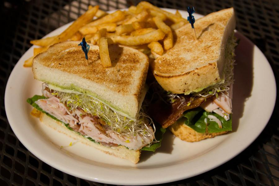 The+California+Club+is+layered+with+turkey%2C+bacon%2C+avocado%2C+lettuce%2C+jack+cheese%2C+tomato%2C+alfalfa+sprouts%2C+mustard+and+mayo+on+Sourdough+bread%2C+Tuesday%2C+Feb.+24%2C+at+City+College%27s+JSB+Caf%C3%A9+on+East+Campus.