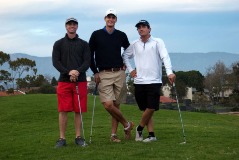 City College golfers, (from left) Brett Patton, Joakim Flink and Manny Manzone prepare for the upcoming season by practicing for individual state finals, Thursday, Feb. 5, at City College. The City College golfers are swinging for state championships.
