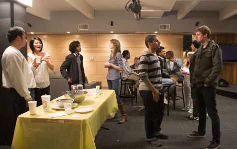 People connecting at the Conversation Café on Monday, March 2, at
