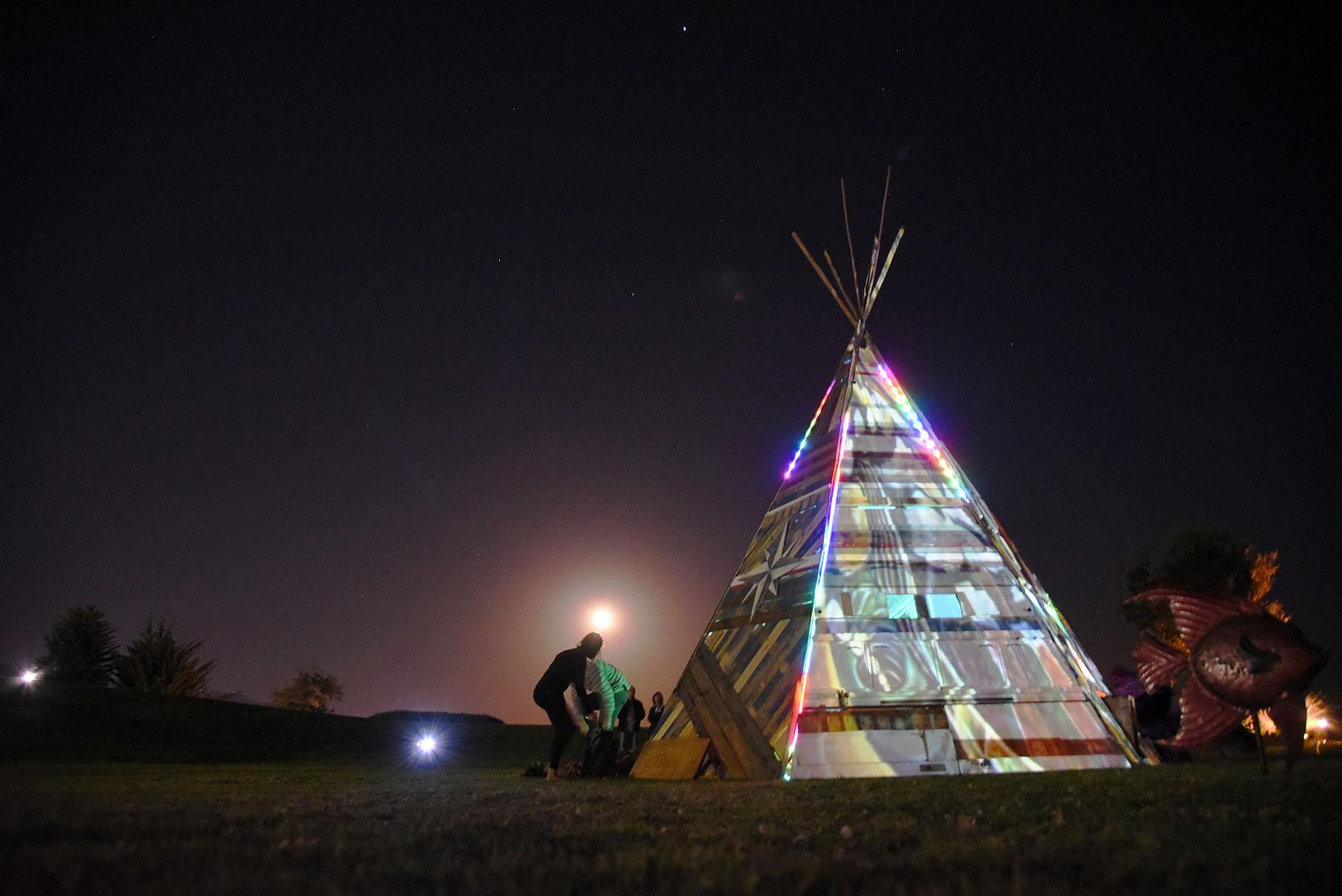 A teepee that was built on West Campus angered Native American students, Thursday, March 5, at City College in Santa Barbara.  The teepee was taken down days later after a meeting between the artists, City College administrators and Native American representatives.