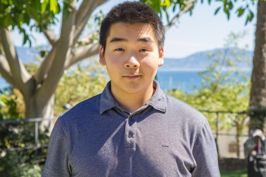 Running for Student President is David Kim, a first-year student majoring in economics and minoring in English, with a campaign motto 'commitment to community,' Friday, March 13, on City College's East Campus in Santa Barbara.