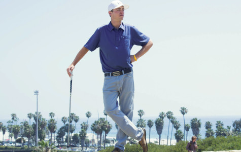 The leading athlete of City College's golf team is Jonny Hogan, Monday, April 13, on West Campus in Santa Barbara. Hogan began playing golf at age 4, and now the 20-year-old sophomore is ranked second in the Western State Conference.