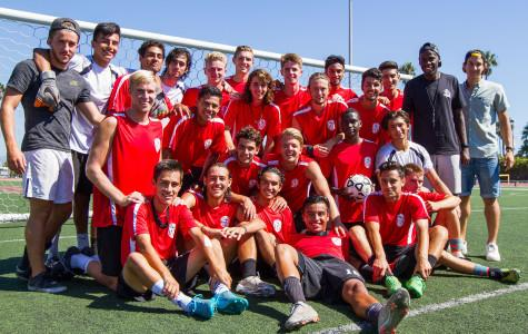 The City College men's soccer team has players from all over the world, with 15 players from the United States and 14 international students, with assistant coach Goffin Boyoko and head coach John Sisterson (not pictured), Thursday, Sept. 30, at La Playa Stadium in Santa Barbara, Calif. City College has had very few local players on the soccer team for the past three years, while before 2013 nearly one third of the team was from Santa Barbara County.