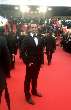 Benjamin Goalabré on the red carpet at the 2013 Cannes Film Festival in Cannes, France. Goalabré is City College's first film studies graduate to produce a full-length film. Image courtesy of Benjamin Goalabré.