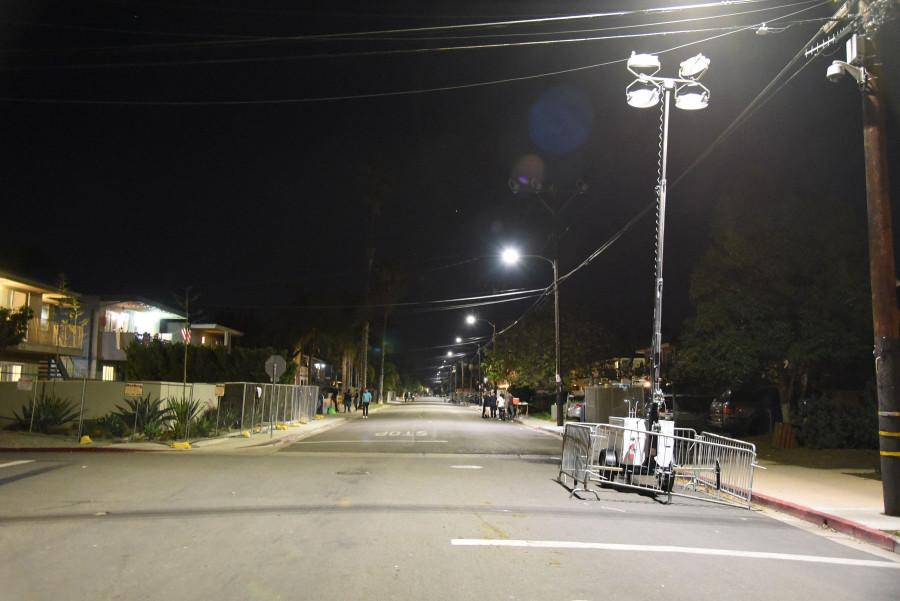 The normally impassable 6600 block of Del Playa Drive in Isla Vista during past Halloween weekends was more calm this year at 12:30 am on Saturday, Oct. 31 in Isla Vista. The University of California, Santa Barbara held events open to currently enrolled Gauchos, including concerts on Friday and Saturday nights, combined with a noise ordinance for the weekend have greatly reduced the Halloween partying in IV.
