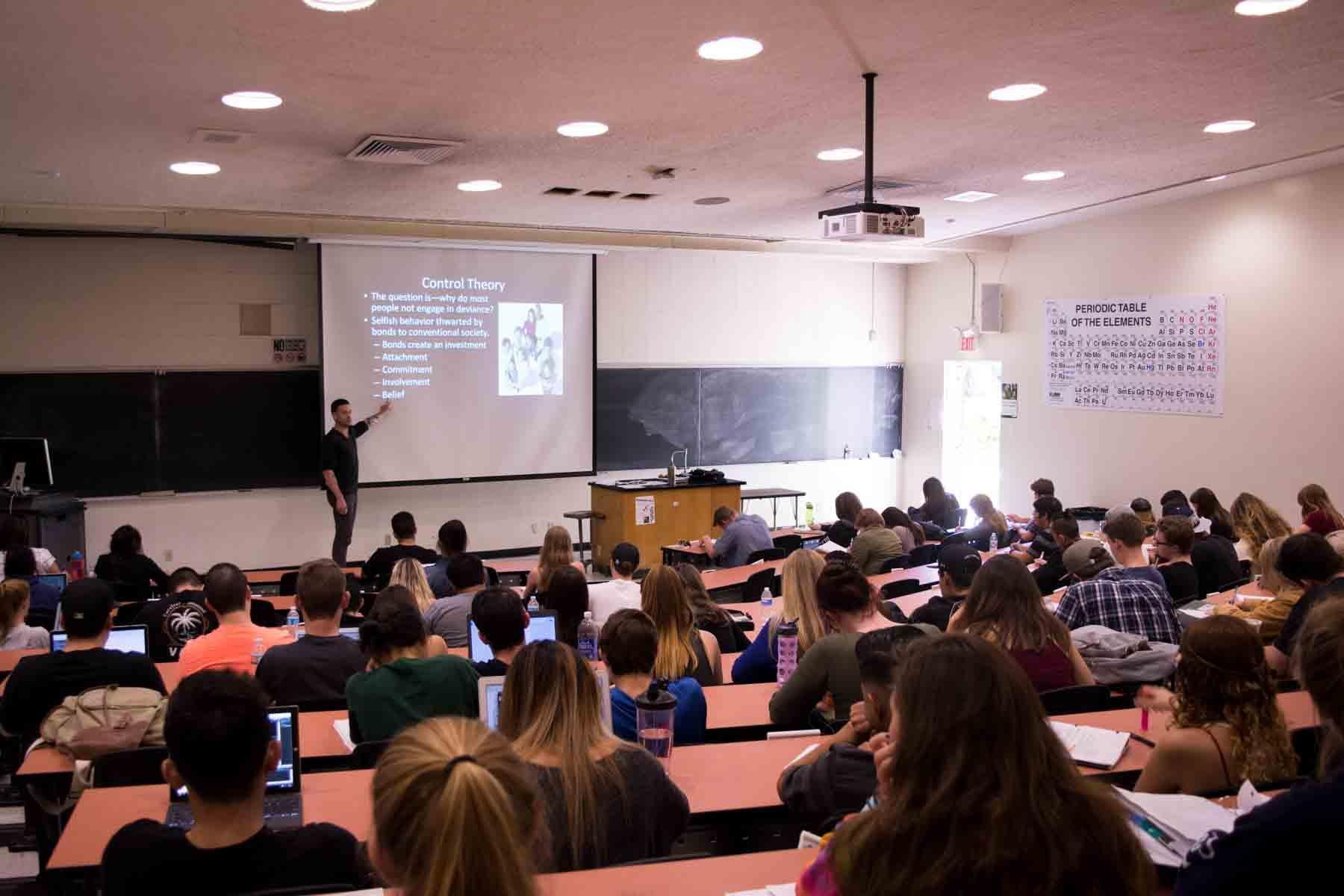 Sociology Professor Dr Patrick OBrien Lectures With A Laid Back Technique That