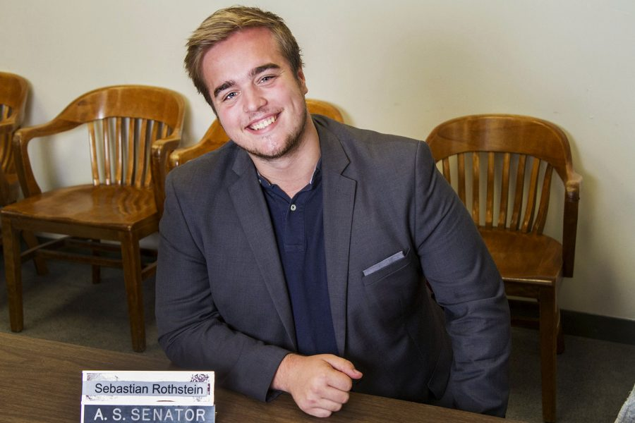 Swedish International Student, Sebastian Rothstein is an elected associated student government senator, editor-in-chief of the ECSB Journal, and the president of the economics club on Friday morning, April 8, in Campus Center Room 223 at Santa Barbara City College.