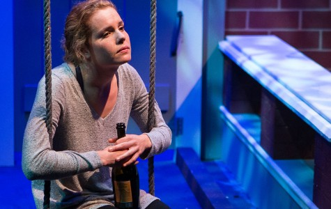 Katherine Bottoms embodies the mental struggles of her character Catherine during 'Proof' rehearsals, Thursday night, April 7, at the SBCC Jurkowitz Theater in Santa Barbara,. The play will premiere at 7:30 p.m. on Wednesday, April 13.